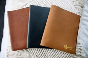 hand made leather photo book